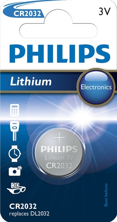 Philips Batteri CR2032 Lithium 3V