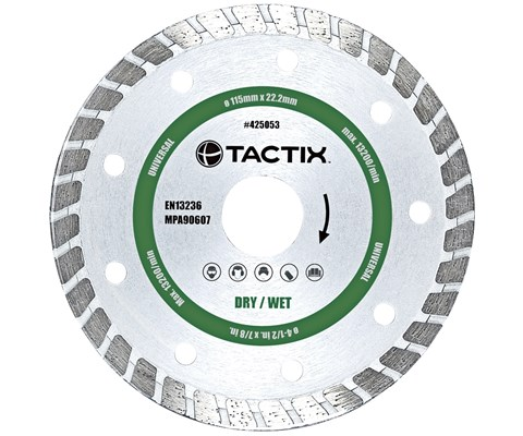 Tactix Kutteskive Diamant Turbo 125 mm