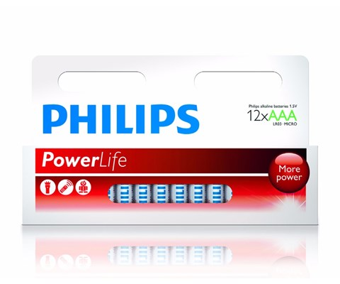 Philips Batteri Power Alkaline AAA 12 pk