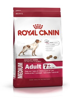 Royal Canin Hundefôr Medium adult 7+ 15 kg