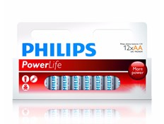 Philips Batteri Alkaline AA 12 pk